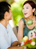 Couples prenant le petit déjeuner Image libre de droits