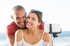 Couples prenant le selfie Image libre de droits