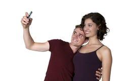 Couples prenant un selfie Images libres de droits