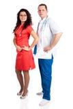 Couples professionnels des médecins Photos libres de droits