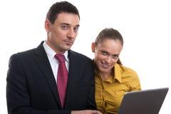 Couples réussis d'affaires Images stock