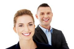 Couples réussis d'affaires Image stock