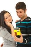 Couples rêvant à leur maison Images stock