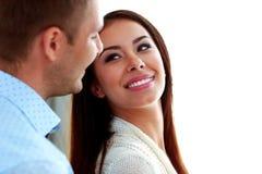 Couples regardant l'un l'autre Photos libres de droits