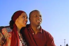Couples regardant vers l'avant Images libres de droits