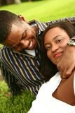 Couples Relaxi d'Afro-américain Photo stock