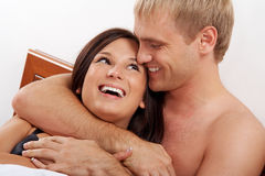 Couples riants Photos libres de droits
