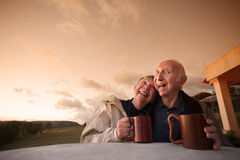 Couples riants photo stock