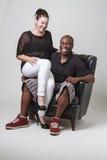 Couples riants Image libre de droits