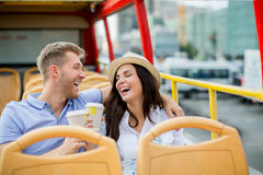 Couples riants Images stock