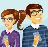 Couples ringards mignons Image libre de droits