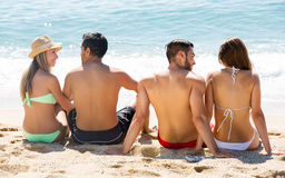 Couples on romantic summer holidays royalty free stock photos
