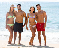 Couples on romantic summer holidays royalty free stock image
