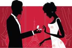 Couples romantiques illustration stock