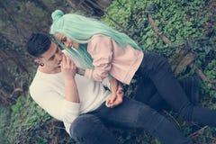 Couples romantiques Photos libres de droits