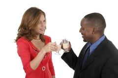 Couples romantiques célébrant 6 images stock