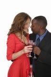 Couples romantiques célébrant avec du vin 12 Image libre de droits