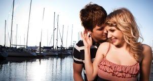 Couples romantiques dans l'amour Photographie stock