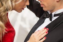 Couples romantiques dans l'amour Photo stock