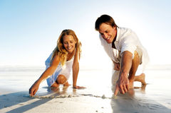 Couples romantiques de coeur Photographie stock libre de droits