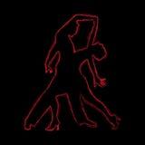 Couples romantiques de danse Images stock