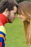 Couples romantiques extérieurs Photo stock