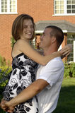 Couples romantiques heureux Photographie stock libre de droits