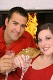 Couples romantiques heureux Image libre de droits