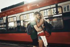 Couples séparant pendant quelque temps Image stock