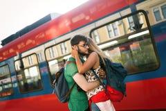 Couples séparant pendant quelque temps Photos libres de droits