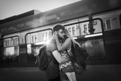 Couples séparant pendant quelque temps Photos stock
