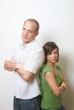 couples sérieux Image stock
