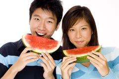 Couples sains Photo libre de droits