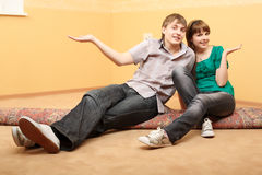 Couples se demandants Photographie stock