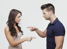 Couples se dirigeant entre eux Images libres de droits