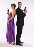 Couples se préparant à la chéri Photo stock