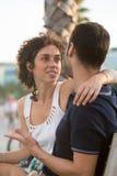 Couples se regardant dans les yeux Images libres de droits