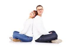 Couples se reposants Photo libre de droits