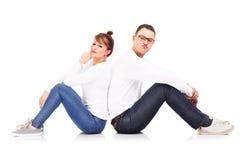 Couples se reposants Photos libres de droits