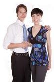 Couples se serrant la main Photos stock