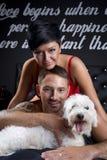 Couples sexy dans le lit Photographie stock libre de droits