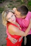 Couples sexy de passion, beau jeune homme et plan rapproché de femme Photo libre de droits