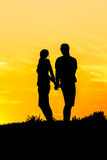 Couples Silhouettes Royalty Free Stock Photos