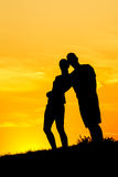 Couples Silhouettes Stock Images