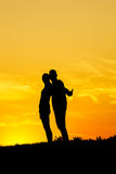 Couples Silhouettes Royalty Free Stock Photo