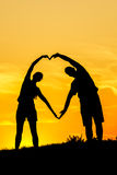 Couples Silhouettes Royalty Free Stock Images