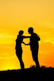 Couples Silhouettes Stock Photo