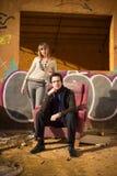 Couples snob dans la crise Images stock