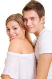 Couples souriants Photo libre de droits