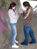 Couples souterrains Photos libres de droits